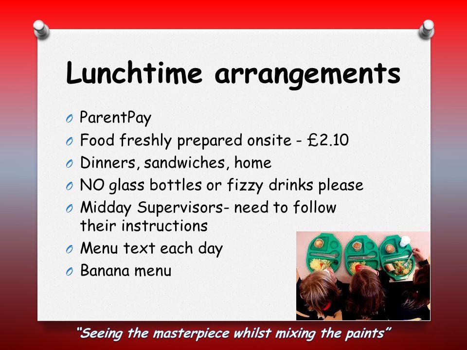 Lunchtime arrangements