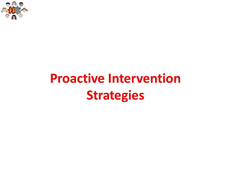 Proactive Intervention Strategies