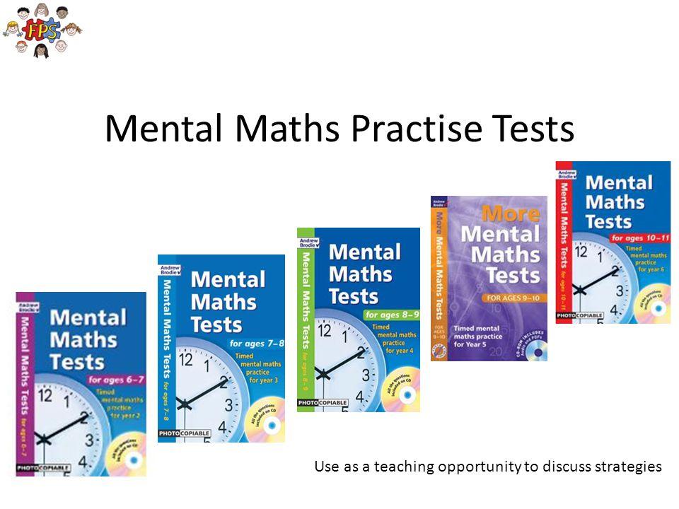 Mental Maths Practise Tests