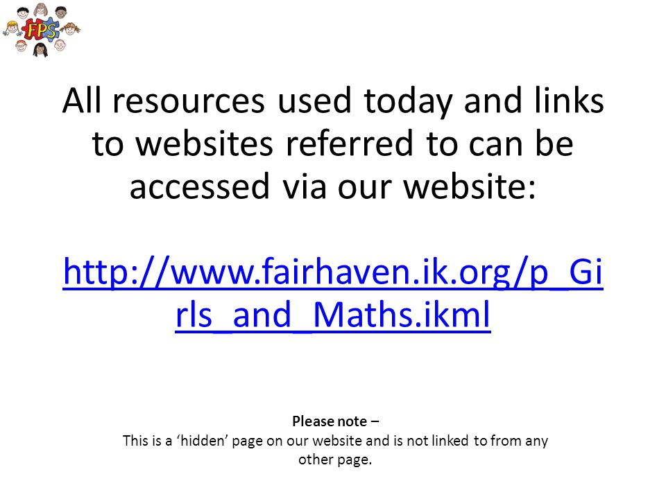 This is a 'hidden' page on our website and is not linked to from any