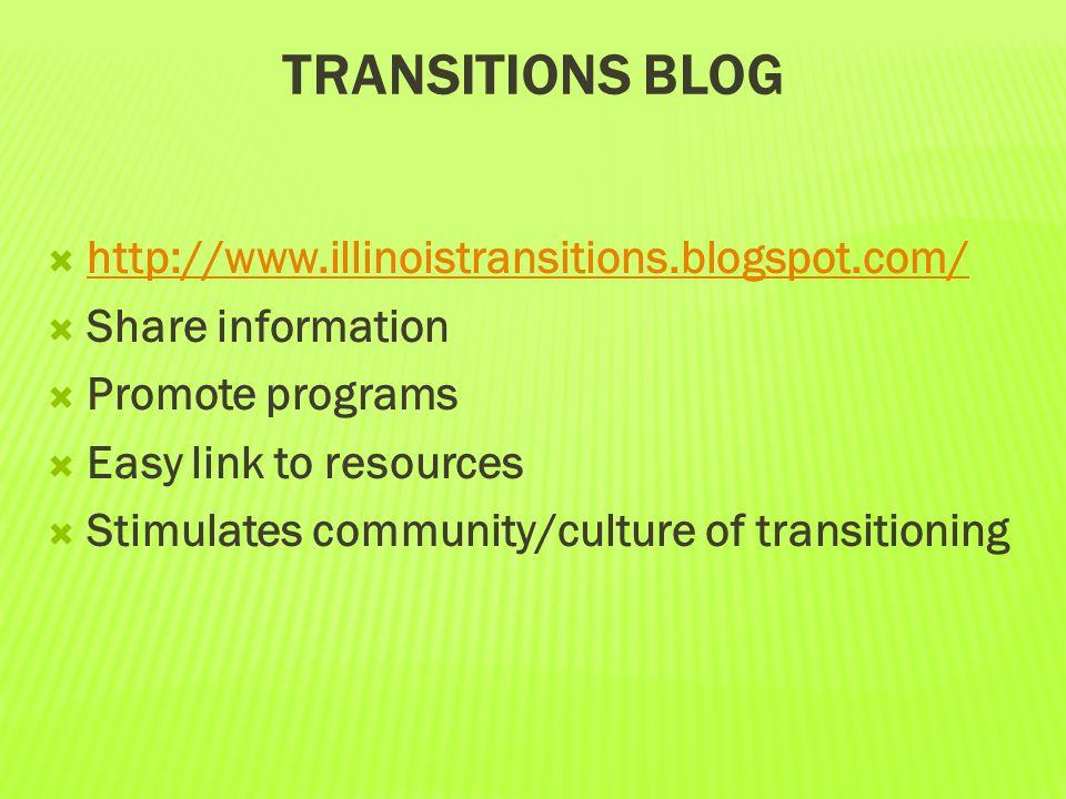 Transitions blog http://www.illinoistransitions.blogspot.com/
