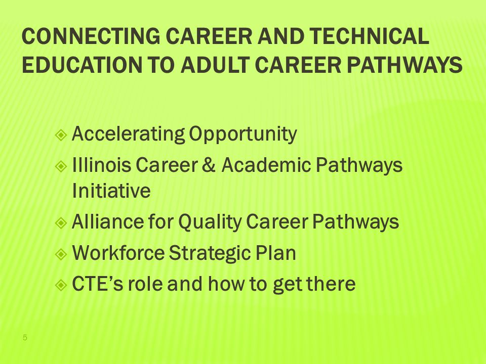 Connecting Career and Technical Education to Adult Career Pathways