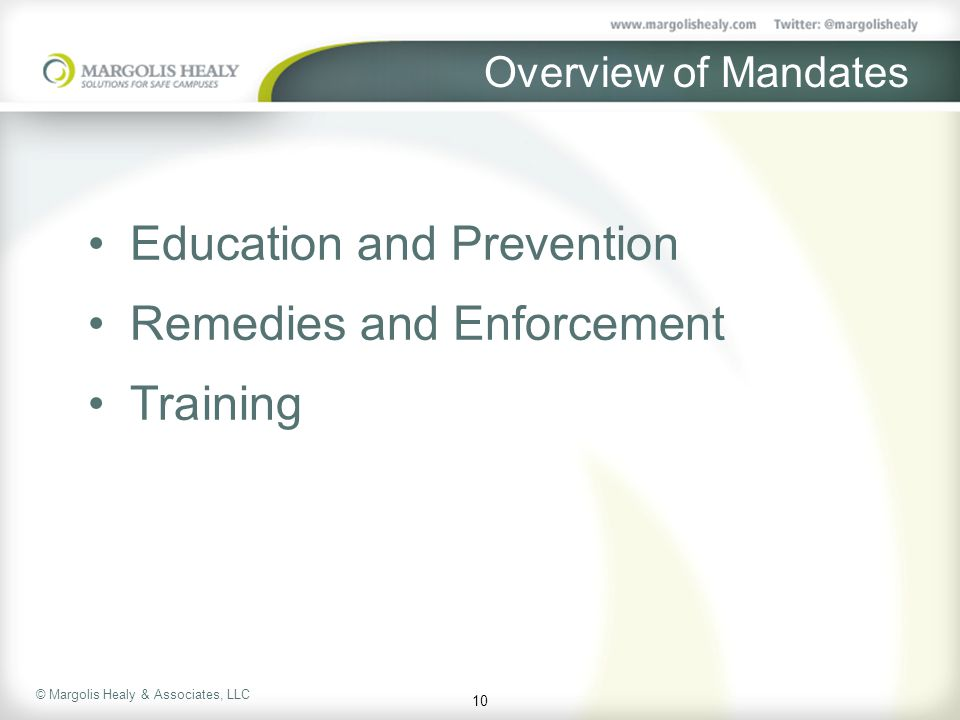 Education and Prevention Remedies and Enforcement Training