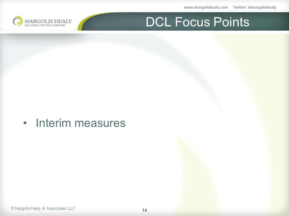 DCL Focus Points Interim measures 14