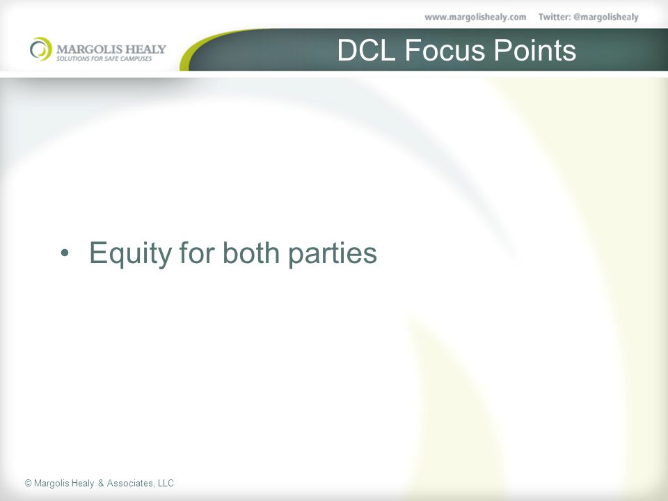 DCL Focus Points Equity for both parties