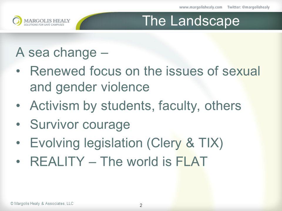 The Landscape A sea change –
