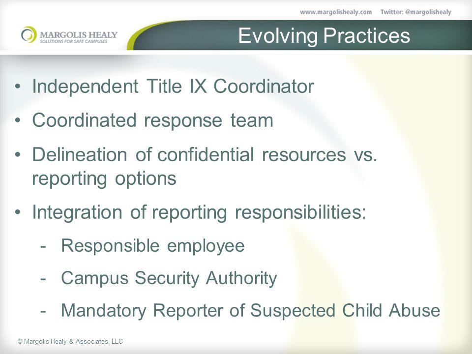 Evolving Practices Independent Title IX Coordinator