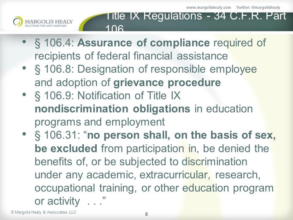 Title IX Regulations - 34 C.F.R. Part 106