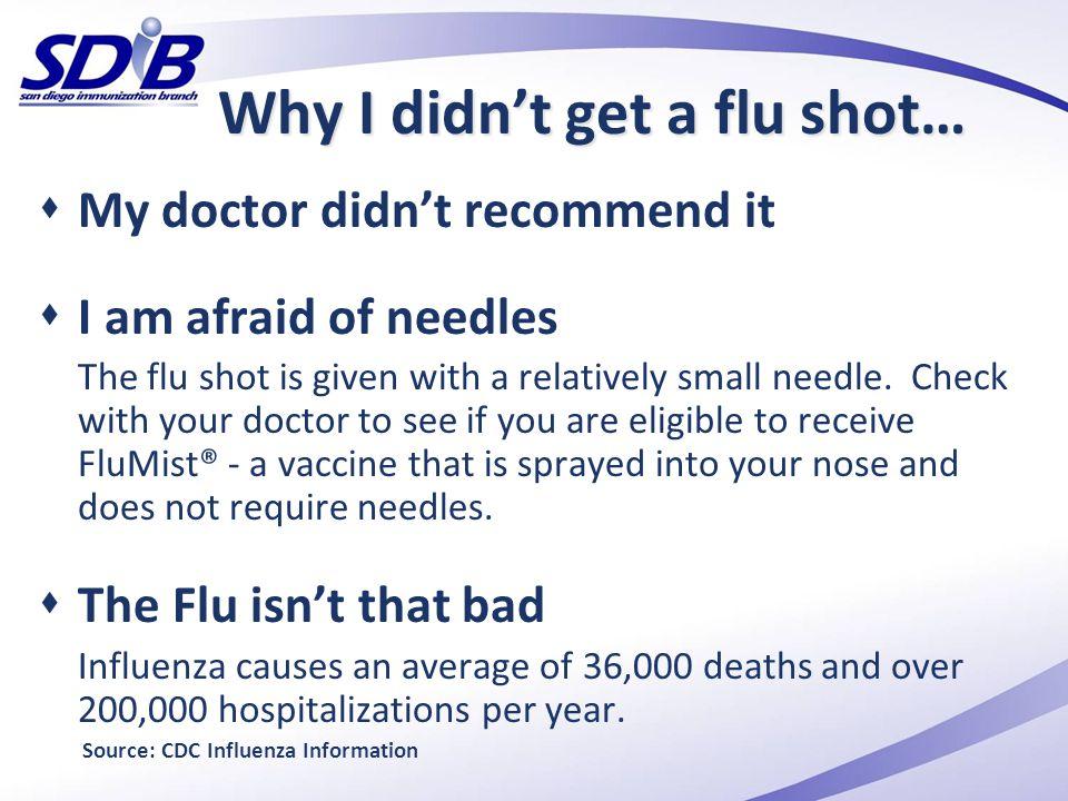 Why I didn't get a flu shot…