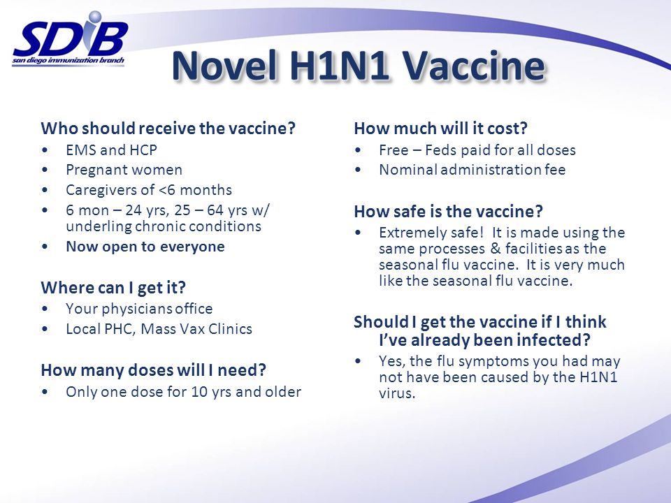Novel H1N1 Vaccine Who should receive the vaccine Where can I get it