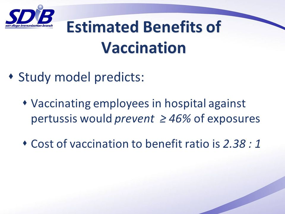 Estimated Benefits of Vaccination