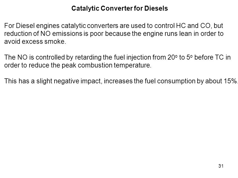 Catalytic Converter for Diesels