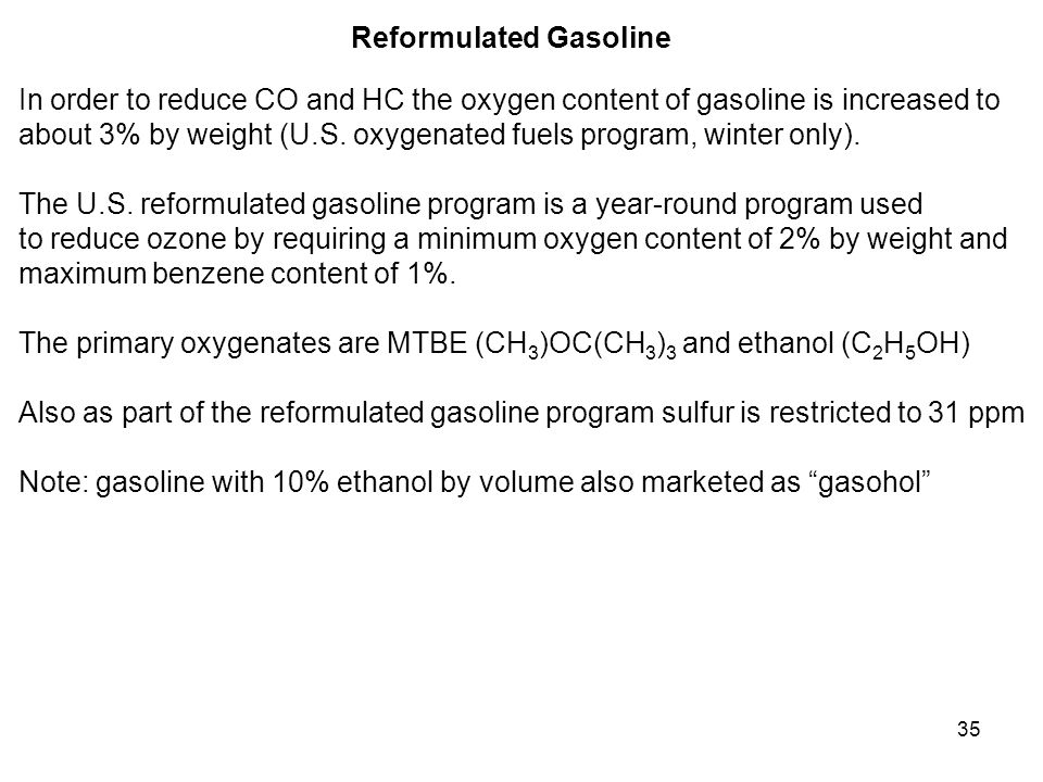 Reformulated Gasoline
