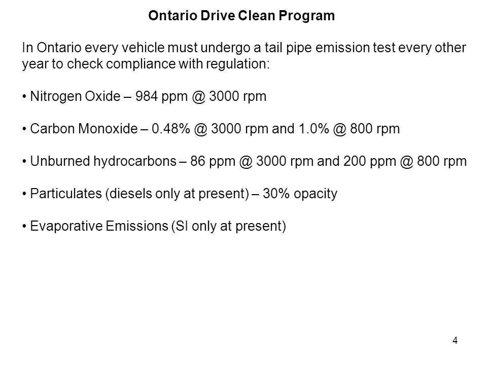 Ontario Drive Clean Program
