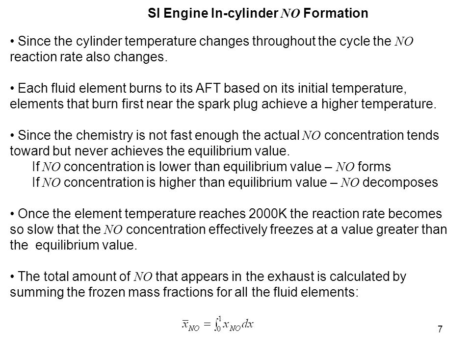 SI Engine In-cylinder NO Formation