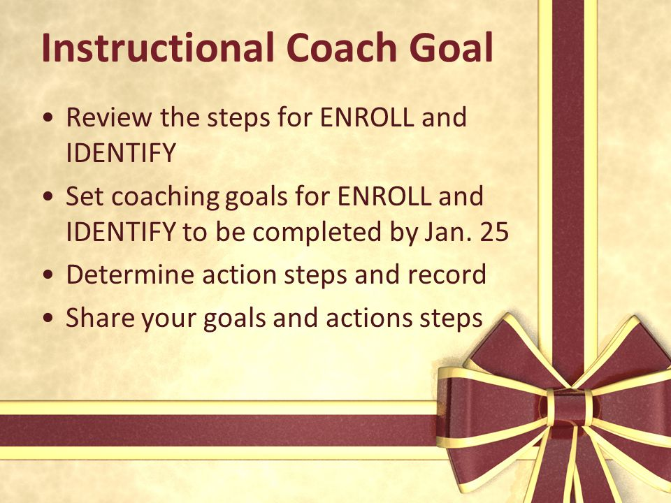 Instructional Coach Goal