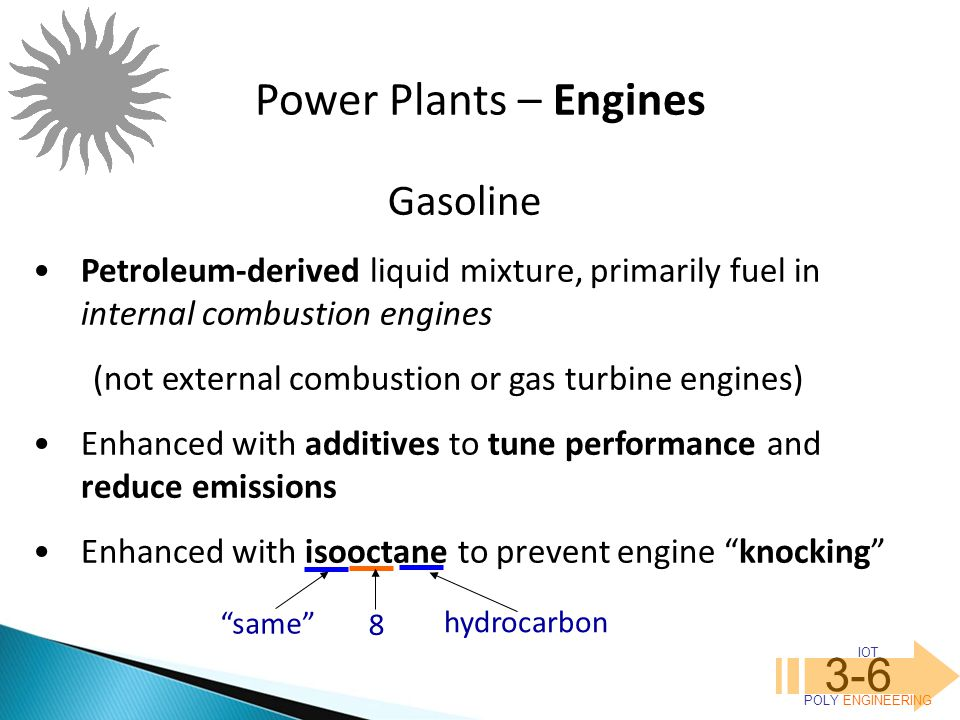 Power Plants – Engines 3-6 Gasoline