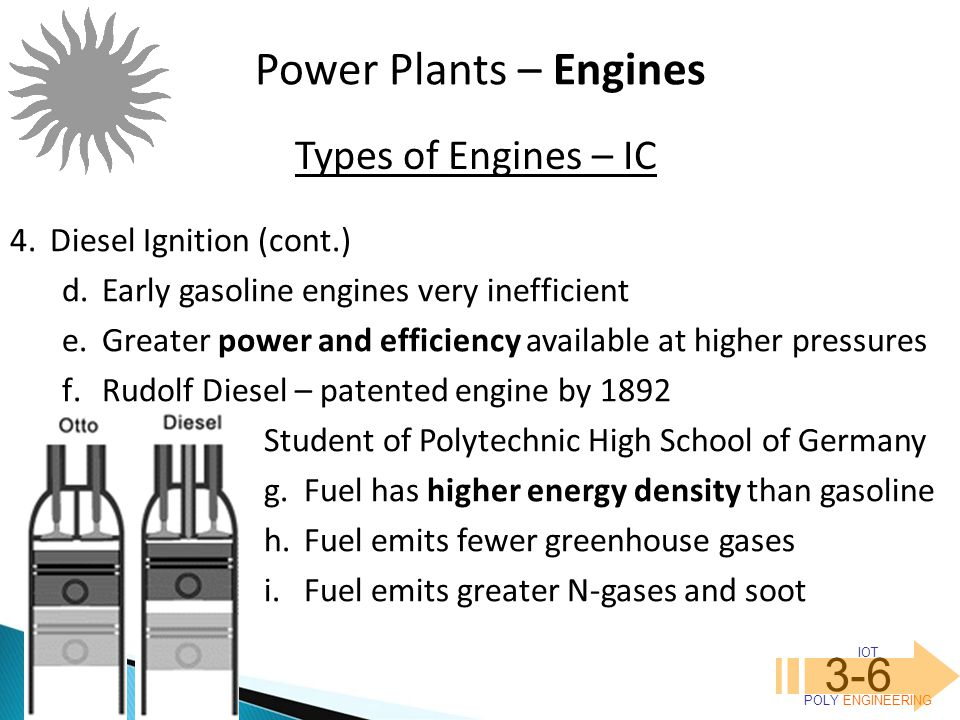 Power Plants – Engines 3-6 Types of Engines – IC