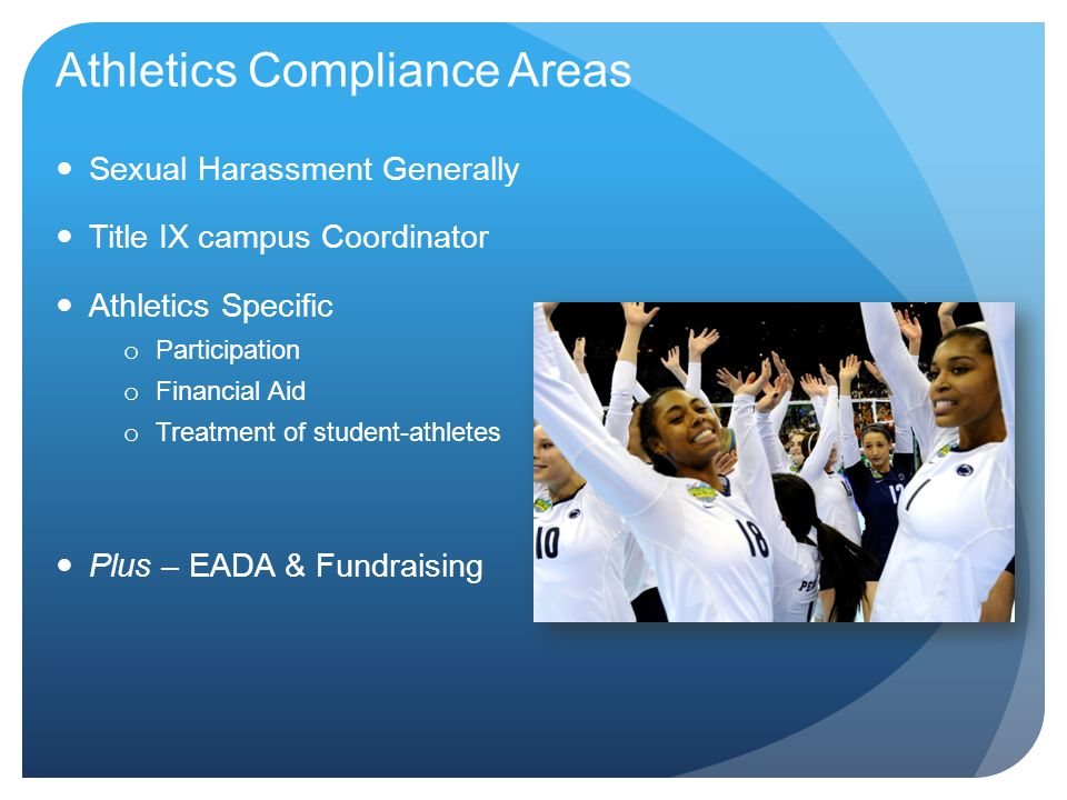 Athletics Compliance Areas