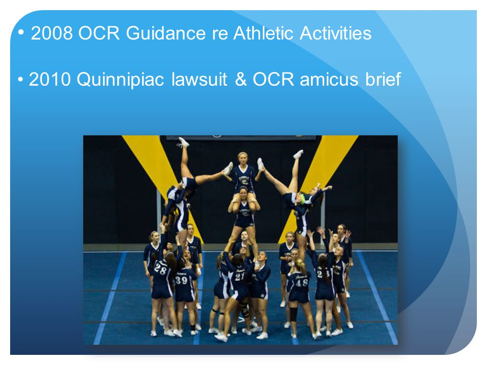 2008 OCR Guidance re Athletic Activities