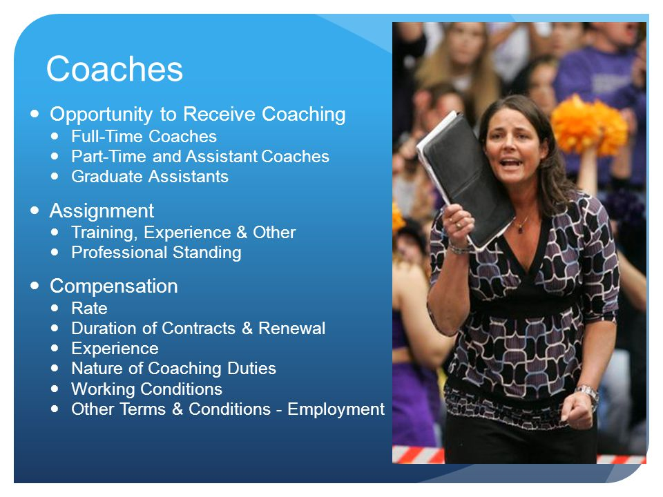 Coaches Opportunity to Receive Coaching Assignment Compensation