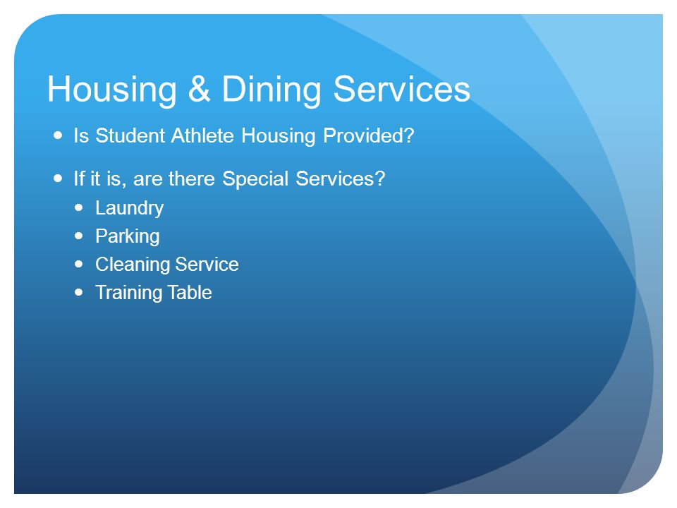 Housing & Dining Services