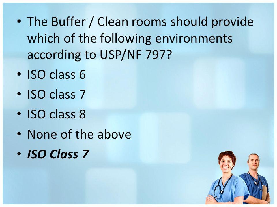 The Buffer / Clean rooms should provide which of the following environments according to USP/NF 797