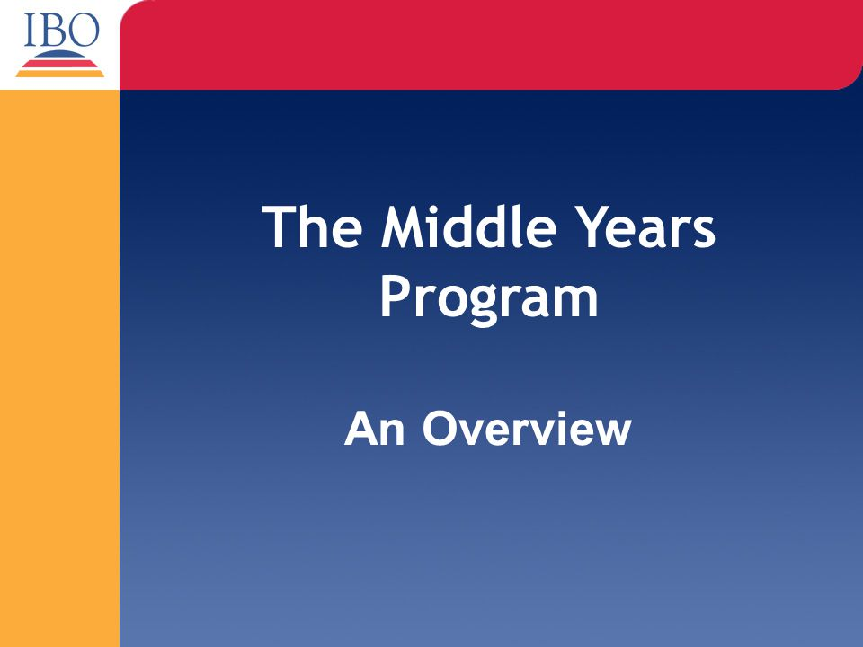 The Middle Years Program