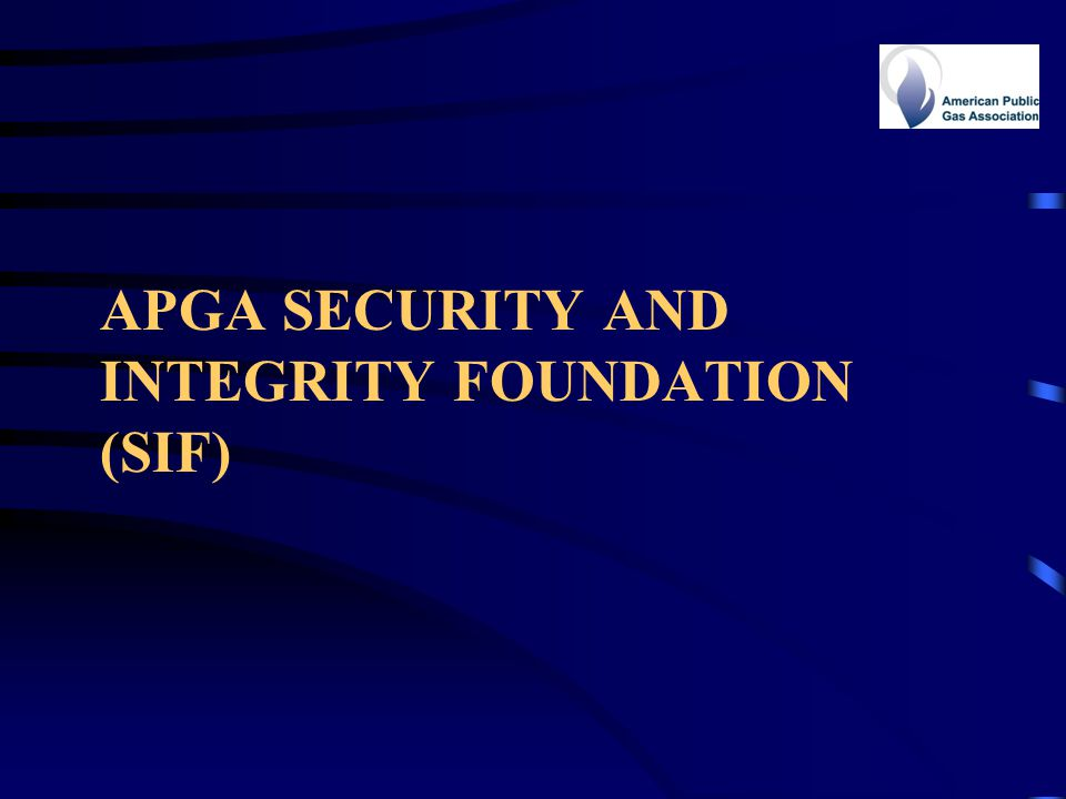 APGA Security and Integrity Foundation (SIF)