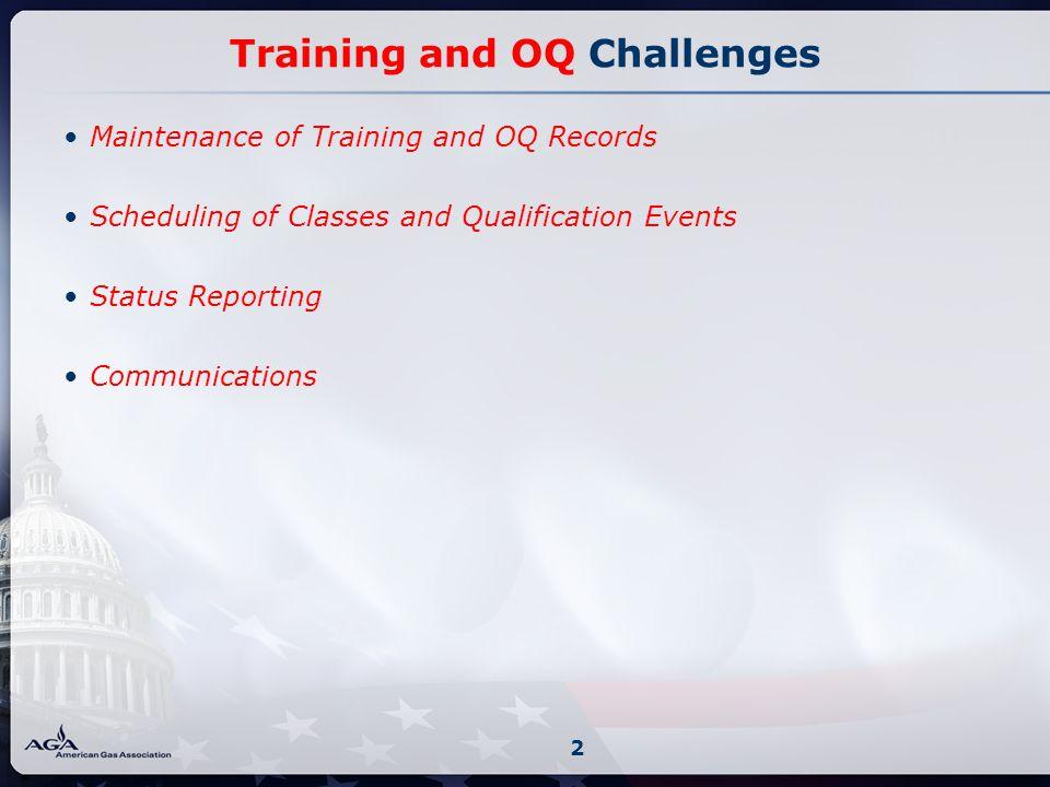 Training and OQ Unique Processes