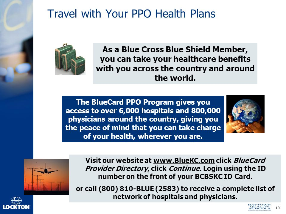 Travel with Your PPO Health Plans