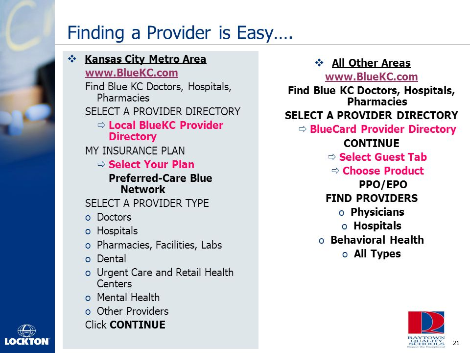 Finding a Provider is Easy….