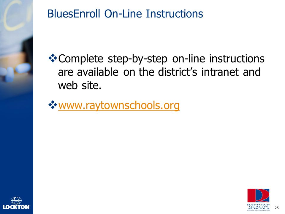 BluesEnroll On-Line Instructions