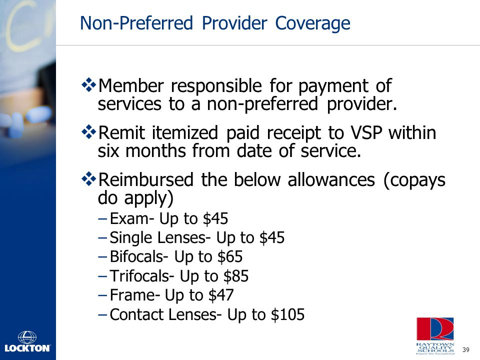Non-Preferred Provider Coverage
