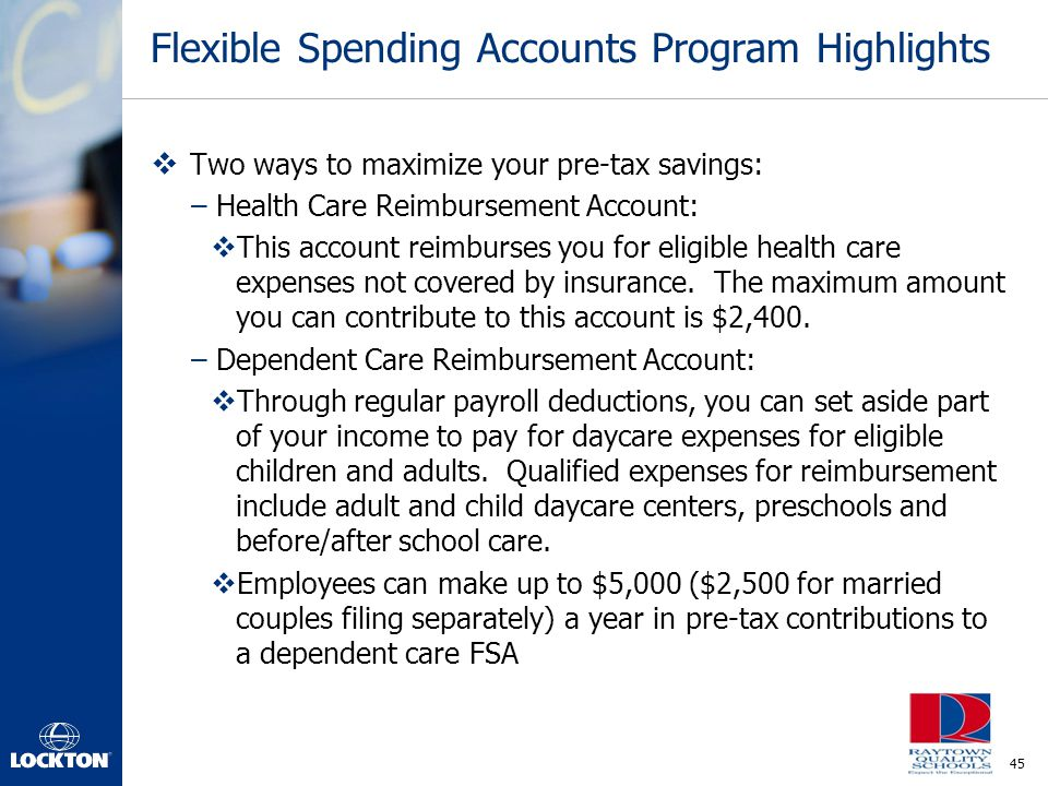 Flexible Spending Accounts Program Highlights
