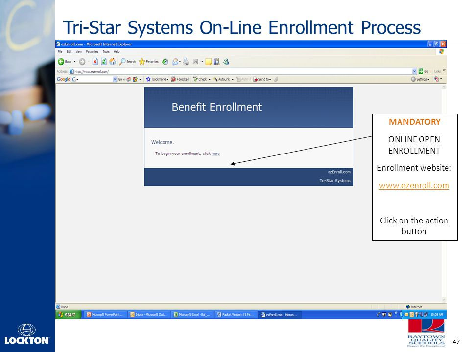 Tri-Star Systems On-Line Enrollment Process