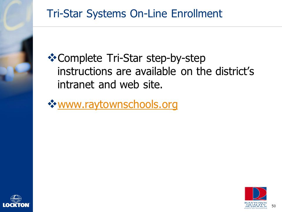 Tri-Star Systems On-Line Enrollment