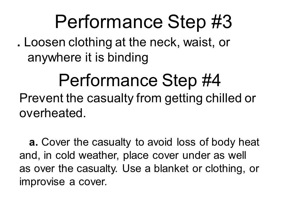 Performance Step #3 Performance Step #4