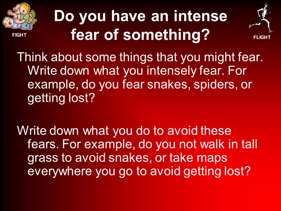 Do you have an intense fear of something