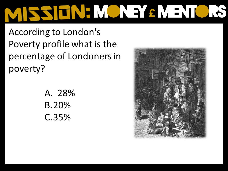 According to London s Poverty profile what is the percentage of Londoners in poverty