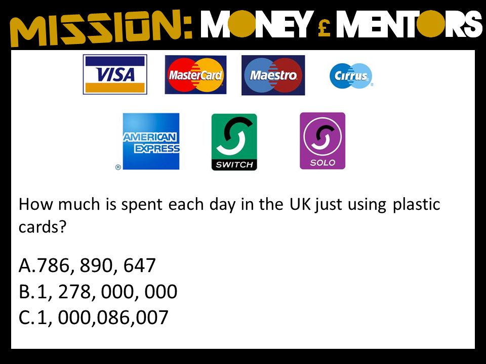 How much is spent each day in the UK just using plastic cards