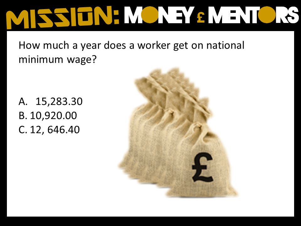 How much a year does a worker get on national minimum wage