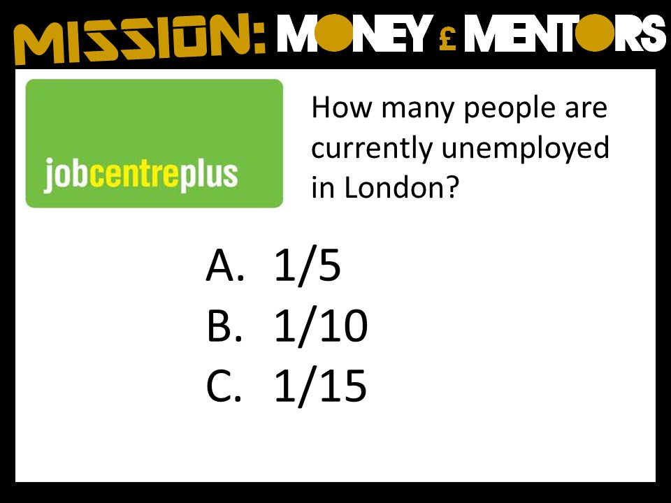 How many people are currently unemployed in London