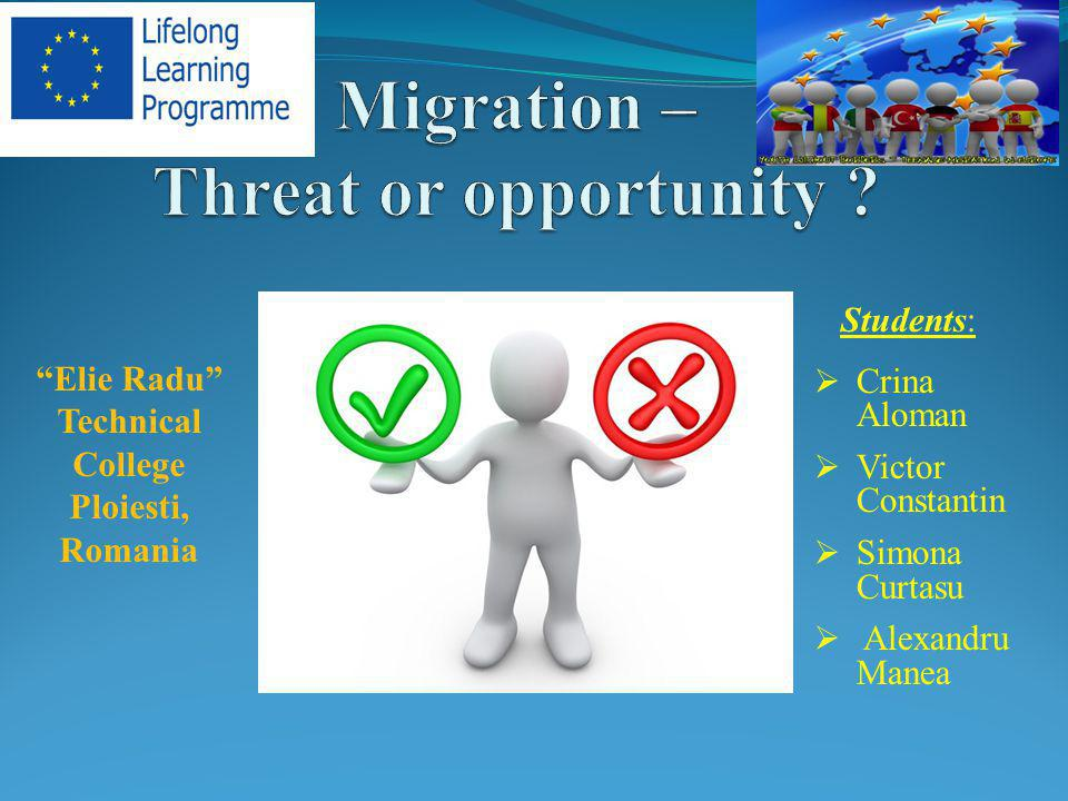 Migration – Threat or opportunity