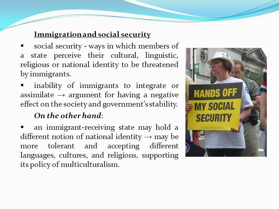Immigration and social security