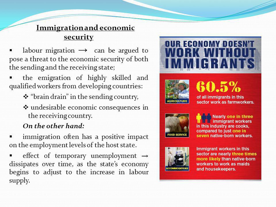 Immigration and economic security