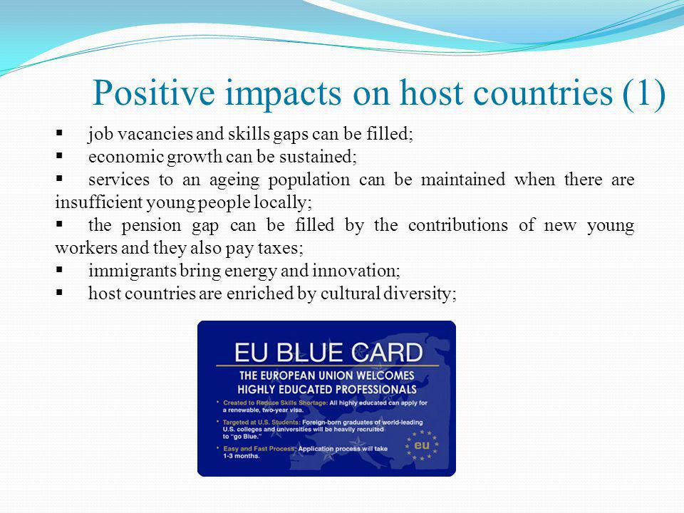 Positive impacts on host countries (1)