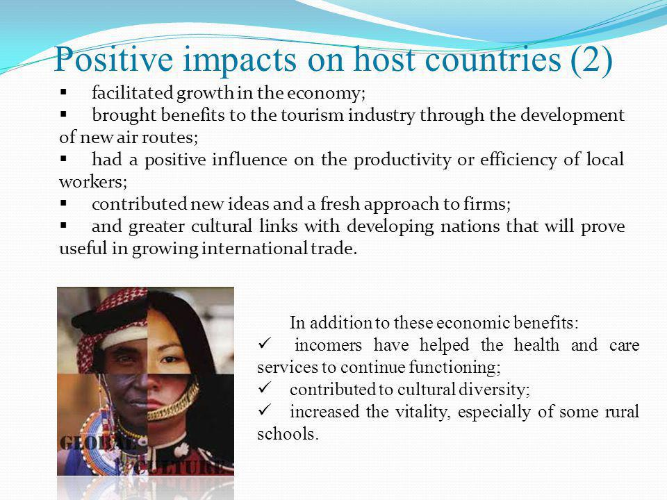 Positive impacts on host countries (2)