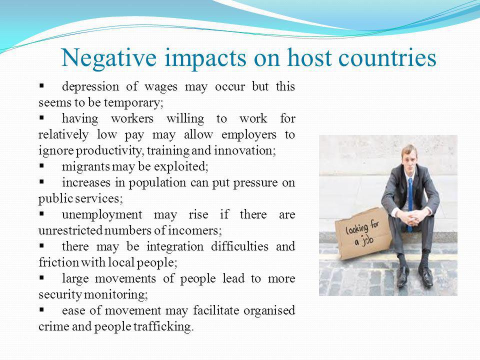 Negative impacts on host countries
