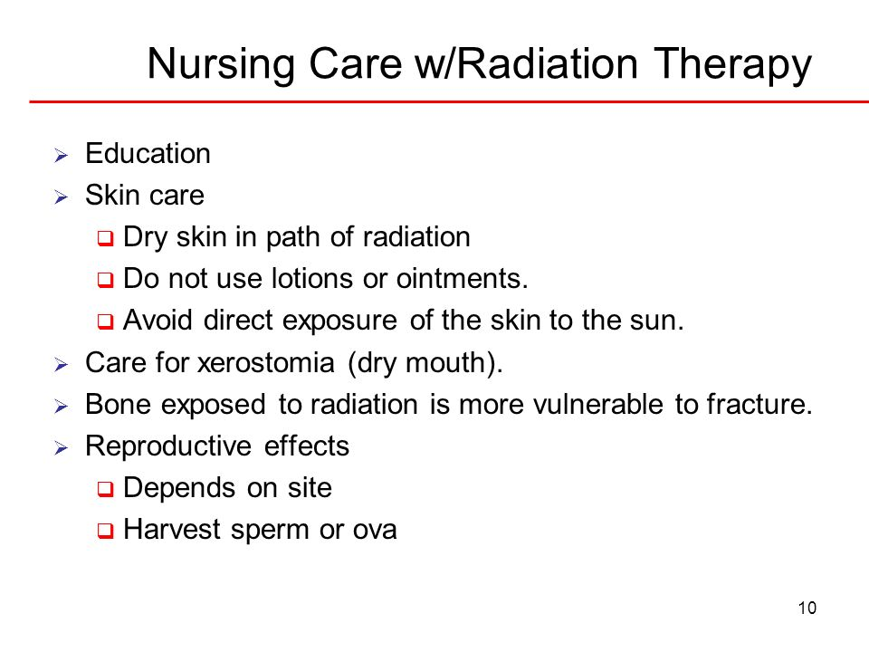 Nursing Care w/Radiation Therapy
